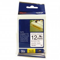 12mm Black on White (Strong Adhesive) Brother P-Touch Tape TZeS231 - HTZS231