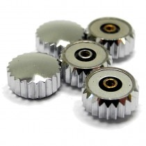 Chrome Waterproof 2.00mm Pendant Watch Buttons (Crowns) 20/9