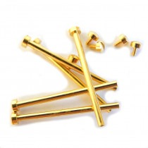 12mm Gold Plated Screw Case Watch Bars