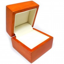Wooden Savoy Ring Box Maple Colour Boxes Wood Presentation Case - SP117 new item