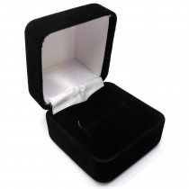 Ring Box Single Black Velvet - SP317