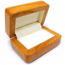 Double Ring Box (Natural Wood) - SP427 New Item