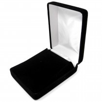 Pendant Case Box (Large) Black Velvet 70mm x 92mm x 34mm - SP825VBLK Presentation Case