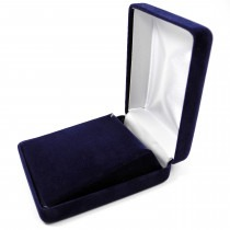 Pendant Box Large (Case) Single Navy Blue Velvet 93mm x 71mm x 35mm - SP825VNB Presentation Case