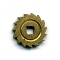 Brass Ratchet Wheels With Square Centre 10mm