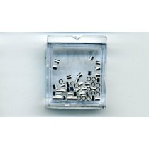 Silver Soft Flex Crimps - 2mm x 2mm - for .014/.019 wire - FC22SIL