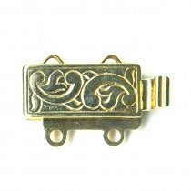 2 Row, Gold Plated Silver Clasp - FC4433