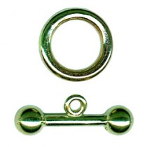 Toggle & Ring, 9ct Gold - FC53