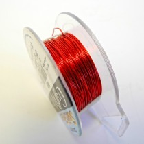 Craft Wire - Red - 0.52mm Thick - 18.28M Length - FT224RED