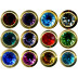 Studex Birthstone Studs Assorted - A Box of 12 Pairs - E232