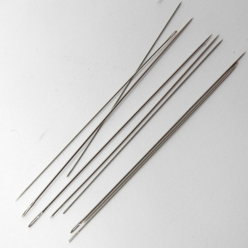 0.25mm 45mm for Bead /& Pearl Threading FN215 10 pieces Beading Needles